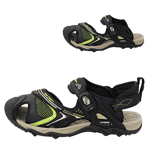 Gold Taube Schuhe GP5937 Männer Frauen Snap Lock Sport Wasser Schuhe Sandalen: Einfacher Magnetverschluss 5937 Schwarz Neongrün