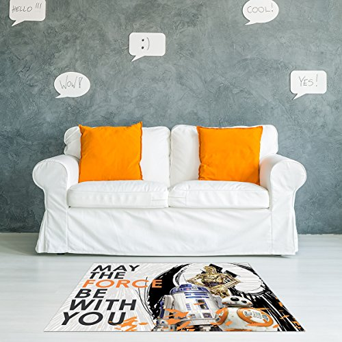 - Gertmenian: Star Wars Rug episode 8 HD C-3PO R2-D2 BB-8 'May the Force be with You' Last Jedi Bedding Area Rugs 40x54 inch, Medium