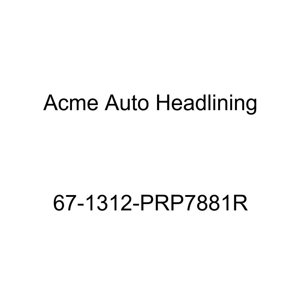 Acme Auto Headlining 67-1312-PRP7881R Carmine Replacement Headliner Cadillac Eldorado 2 Door Hardtop 6 Bow