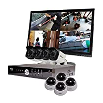 REVO America Aero HD 1080p 16 Ch. Video Security System with 8 Indoor/Outdoor Cameras, White/Black (RA161D4GB4GM22-2T)