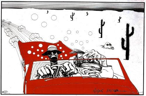 Ralph Steadman (Fear and Loathing in Las Vegas) Art Poster Print - 36x24 (Fear And Loathing In Las Vegas Gonzo)