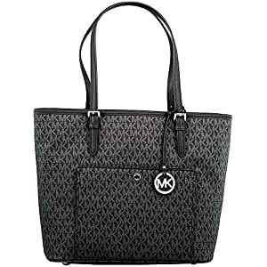 MICHAEL Michael Kors Jet Set Signature Tote – Black
