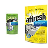 Whirlpool Affresh Washer Cleaner, 3-Tablets & Affresh Whirlpool W10288149B Dishwasher Cleaner