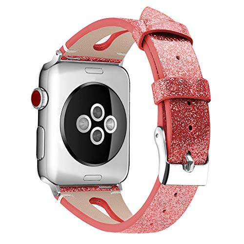 Sodoop Compatible for Apple Watch Band 38 / 40mm, Luxury Flash Bling Glitter Sequins Leather Watchband Replacement Wristband Strap for iWatch Series 1 Series 2 Series 2 Series 4