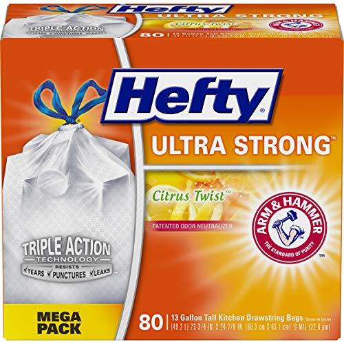 Hefty Ultra Strong Tall Kitchen Trash Bags - Citrus Twist