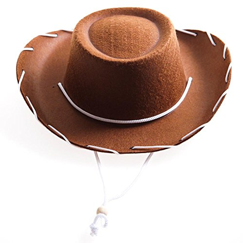 Childrens Brown Felt Cowboy Hat by Century Novelty by Century -