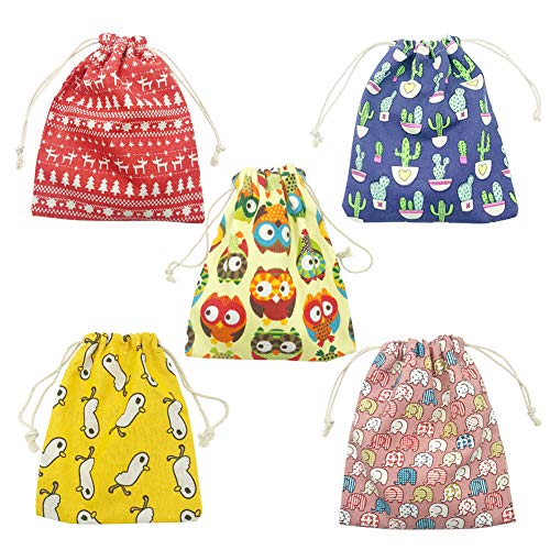 Drawstring Goody Bags Party Favor Bags for Kids Birthday Treat Pouch Bags 10 pack