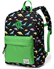 Preschool Backpack,Vaschy Little Kid Backpacks for Boys with Chest Strap Cute Dinosaur