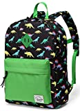 Preschool Backpack,Vaschy Little Kid Backpacks for Boys with Chest Strap Cute Dinosaur)