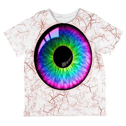 Halloween Rainbow Creepy Eyeball Costume All Over Toddler T Shirt Multi 6T