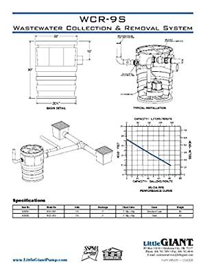 Little Giant 509081 WCR-9SP 115 Volt Wastewater Collection and Removal System, Foam Cover