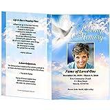 amazon com blessed funeral program paper pkg of 25 office
