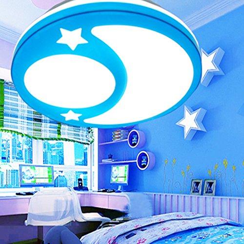 Sflash kaltweiß Deckenleuchte Dechenlampe Kinderleuchte blau Mond ...