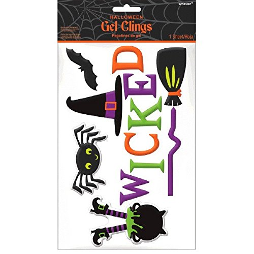 Amscan Witch Crew Gel Cling, Halloween