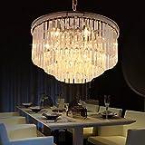 9 light crystal chandelier - Odeon Crystal Chandelier 9 Lights Round Pendant Hanging Light Modern Crystal Prism Chandeliers Lighting Chrome Finish D19.7''H21.7'' CZ2526C/9