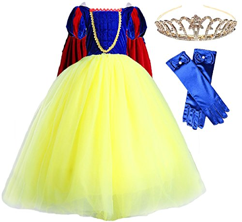 (Romy's Collection Princess Snow White Party Deluxe Costume Dress-Up Set (3-4))