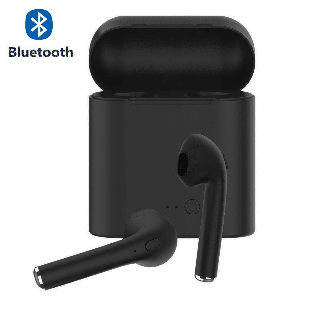 Wireless Earbuds Bluetooth Headphones,Bluetooth 5.0 Auto Pairing in-Ear Headphones with Airpods Portable Case Wireless Charging Case Frosted Black122