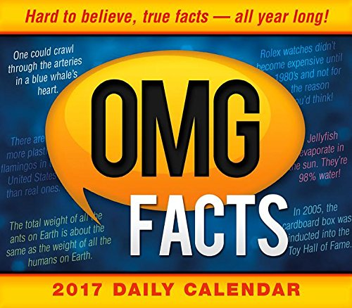 OMG Facts 2017 Boxed/Daily Calendar Calendar – Day to Day Calendar, June 22, 2016 Spartz Media Sellers Publishing Inc 1416244174 CB4417