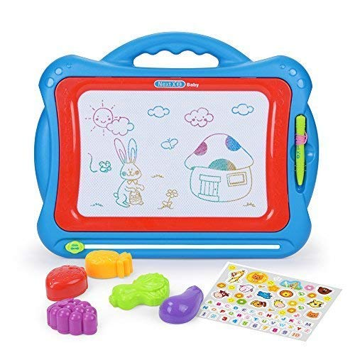NextX Magnetic Drawing Board Write and Learn Creative Toy ( Blue-Red ) -