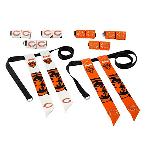 Franklin Sports Chicago Bears Flag Football Set - 8 Flag Belts - 8 Player - Self Stick Tear-Away Flags - NFL Official Licensed Product