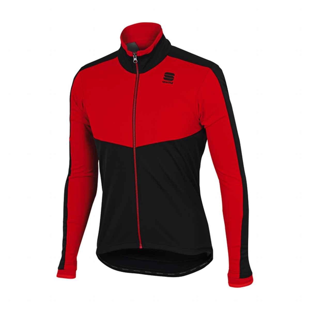 SportfulメンズPordoi WSサイクリングジャケット – b1101818 Large レッド/ブラック B073HS5XP8