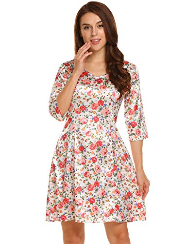 Unique Print Satin Dress - 4