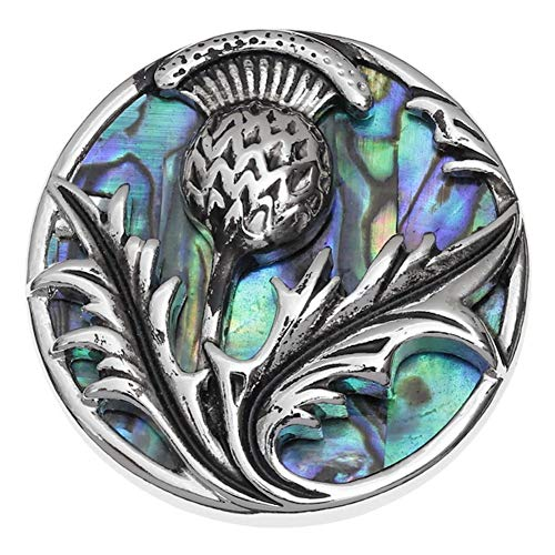 Thistle Jewellery Scottish (Talbot Fashions Tide Jewellery Inlaid Blue Paua Shell Scottish Thistle Brooch Pin)