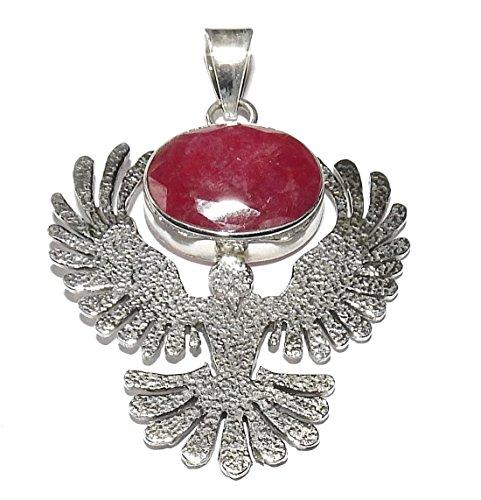 - Ruby Eagle Pendant 02 High Vibration Spiritual Energy (Gift Box)