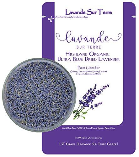 Lavandula Dentata French Lavender - 8 Ounces Value Bag - Organic Premium Grade Lavender Flower Dried - Highland Grow - By Lavande Sur Terre