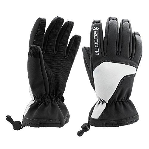 Boodun Winter Snow Ski Gloves Waterproof Thinsulate Warm Skiing Snowboard Gloves for Men Women (Skiing Mitts Men)