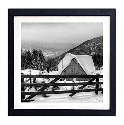Amazon Com Framed Wall Art House Fence Wooden Mountains Protection