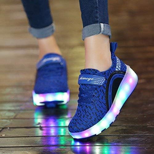 AGoGo Roller Shoes Girls Boys Wheel Shoes Kids Roller Skates Shoes LED Light Up Wheel Shoes for Kids for Kids for Children