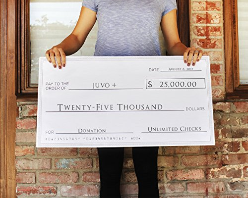 Blue Panda Giant Checks - 5-Count Paper Giant Fake Novelty Checks, Large Presentation Checks for Endowment Award, Donations, and Fundraisers, Each Big Check Measures 30 x 16 Inches by Blue Panda (Image #1)