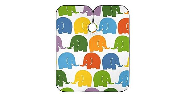 Cabo de peluquería colorido diseño de elefantes impresos ...