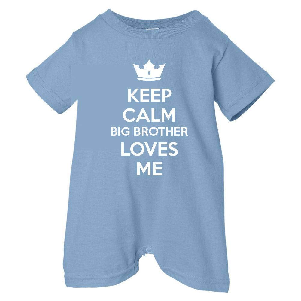 Unisex Baby Keep Calm Big Brother Loves Me T-Shirt Romper So Relative