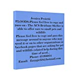 HELEN CHEN 2011 QUEENSLAND FLOOD - ANIMAL RESCUE! Canvas Picture Frames Victims Framed Canvas Prints