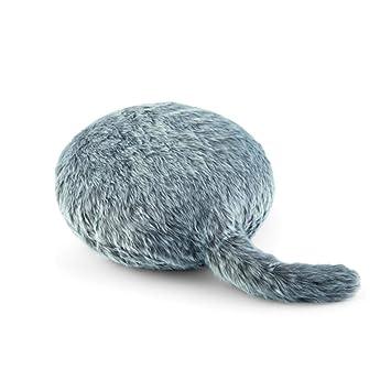 Amazon.com: Cojín de felpa con forma de gato con cola de ...