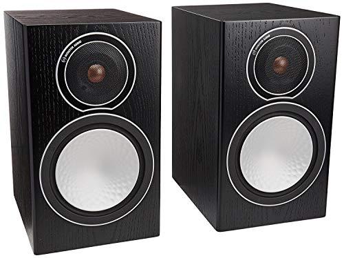 Monitor Audio - Silver Series 1 - 2-way Compact Loudspeakers - Pair - Black Oak