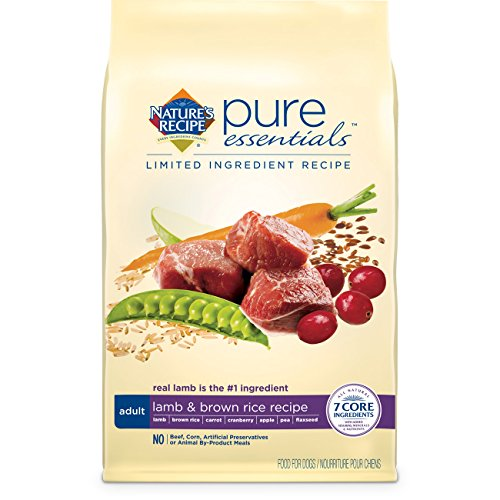 Nature's Recipe Pure Essentials Adult Lamb and Brown Rice Dry Dog Food, 4-Pound
