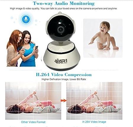 Amazon.com: WiFi Monitor de bebé AR1 IP Cámara de vigilancia ...