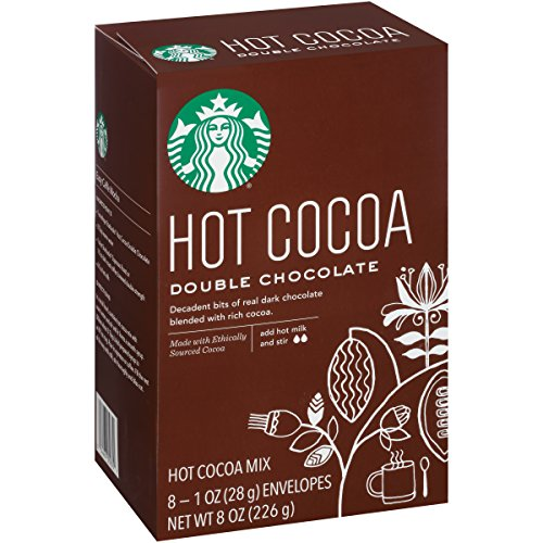 Starbucks 1oz Packets, 8-count, Double Chocolate Hot Cocoa Mix, Pack of ()