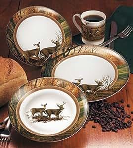 Amazon Com Indian Summer 16 Piece Dinnerware Set By