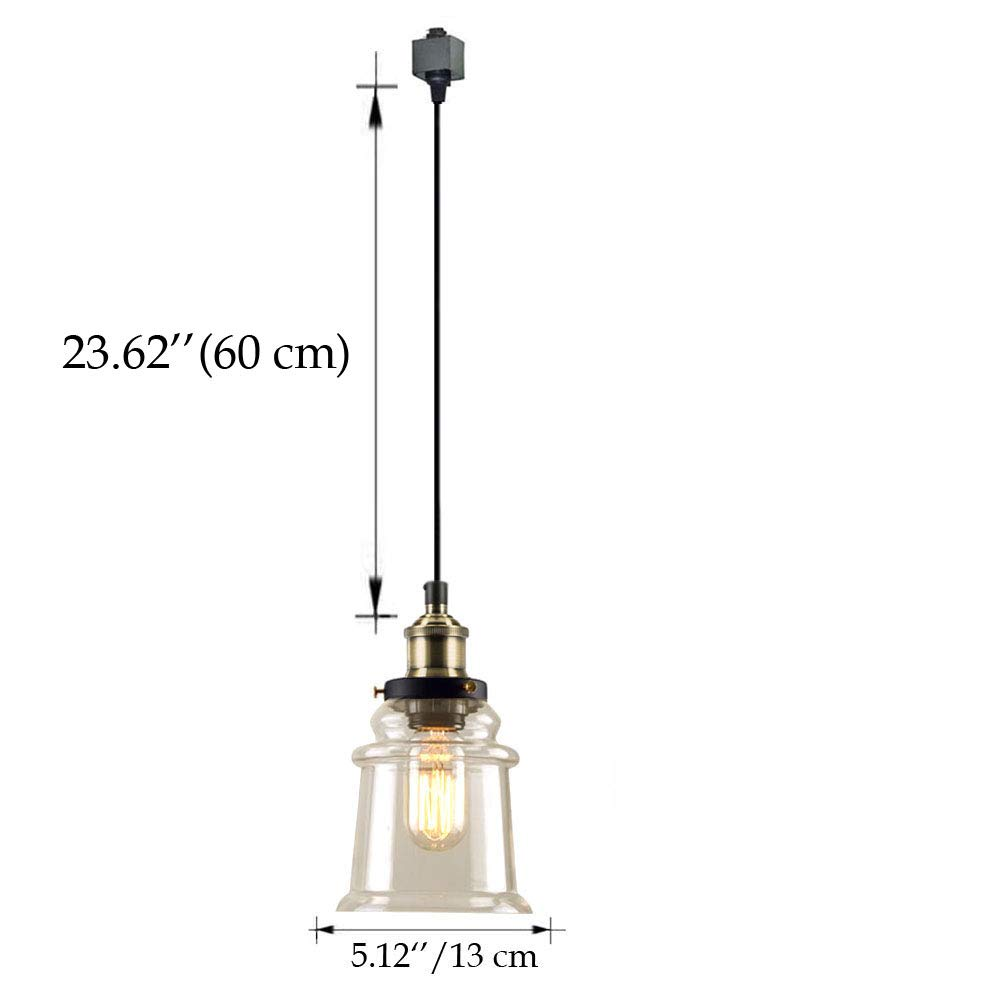 Kiven H Type 3 Wire Miniature Pendant Track Lighting Fixture Without Wiring Restaurant Chandelier Decorative Instant