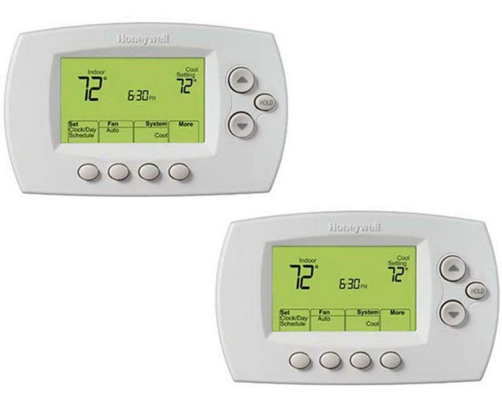 Honeywell Wi-Fi 7-Day Programmable Thermostat (RTH6580WF) Requires C Wire (2 Pack)