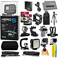 Hero 5 HERO5 Black Edition + 64GB SD + Handgrip + Monopod + Chest Strap + Head Strap + Tripod + Floating Bobber