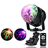 ZjRight Disco Light for Parties Stage LED Rotating Sound Activated with IR Remote