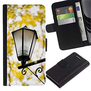 For Sony Xperia Z1 Compact / Z1 Mini / D5503,S-type® Fall Yellow Street Lamp Romantic - Dibujo PU billetera de cuero Funda Case Caso de la piel de la bolsa protectora