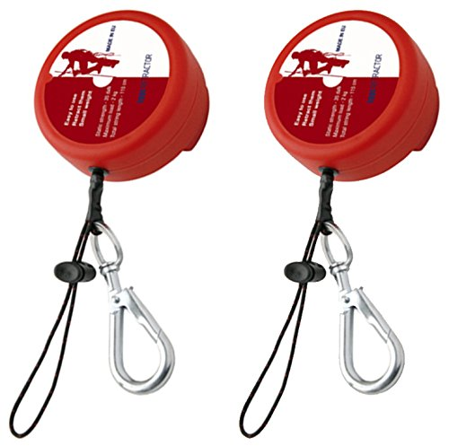 (2 Pack) G-Force Retractable Height Safety Fall Protection Tool Safety Lanyard Length 115cm SafetyLiftinGear