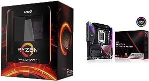AMD Ryzen Threadripper 3990X 64-Core, 128-Thread Unlocked Desktop Processor, Without Cooler and Zenith II Extreme TRX40 Gaming AMD 3rd Gen Ryzen Threadripper sTRX4 EATX Motherboard