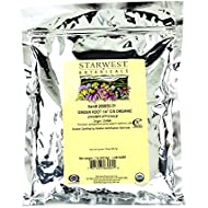 """Starwest Botanicals Organic Ginger Root 1/4"""" Cut and Sifted, 1 Pound"""